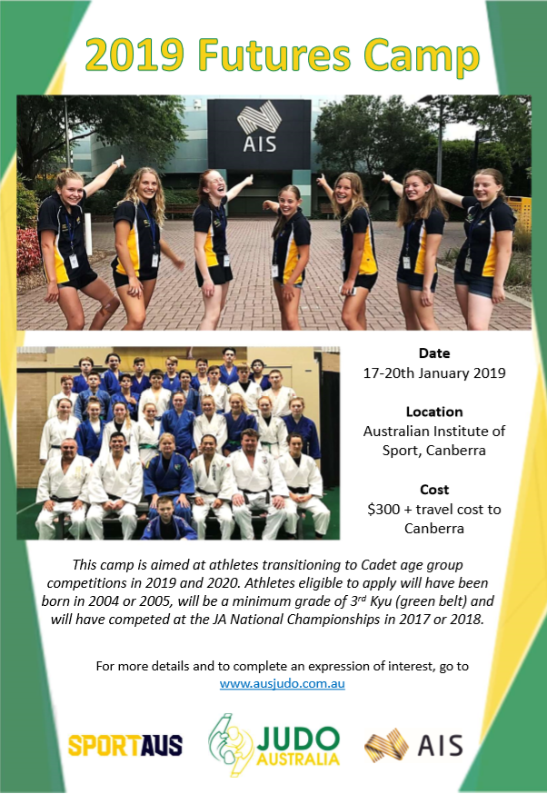 Judo Australia 2019 Futures Camp @ Australian Institute of Sport | Bruce | Australian Capital Territory | Australia